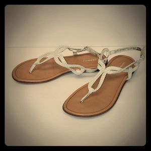Youth Sonoma White Braided Sandals